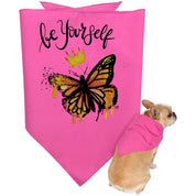 "Inspiring Butterfly Doggie Bandana - ""Be Yourself"""