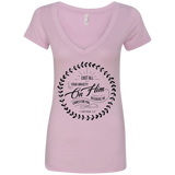Cast All Your Anxiety On Him Ladies' Deep V-Neck T-Shirt