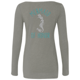 Mermaid Of Honor Level Ladies' Triblend LS Scoop
