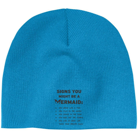 Signs You Might Be A Mermaid Beanie - Apparel - Rebel Style Shop