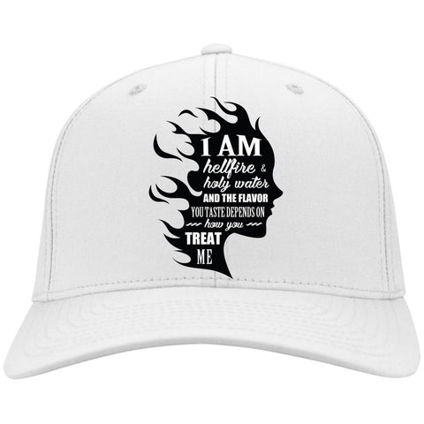 "Feminist Gifts - ""I Am Both Hellfire And Holy Water, And The Flavor You Taste Depends On How You Treat Me"" Caps"
