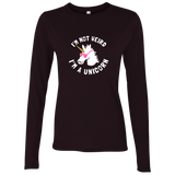I'm Not Weird I'm a Unicorn Ladies' Softstyle 4.5 oz. LS T-Shirt
