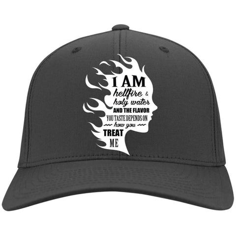 "Inspirational Caps - ""I Am Both Hellfire And Holy Water"""