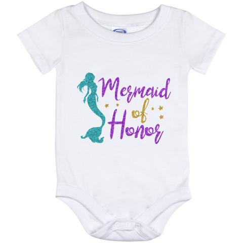 Mermaid Of Honor Baby Onesie 12 Month - T-Shirts - Rebel Style Shop