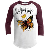 "Butterfly Be Yourself Design Inspiring Butterfly Sporty T-Shirt - ""Be Yourself"" - T-Shirts - Rebel Style Shop"