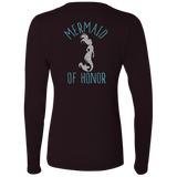 Mermaid Of Honor Ladies' Softstyle 4.5 oz. LS T-Shirt - T-Shirts - Rebel Style Shop