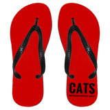 Cats Because People Suck Flip Flops - Apparel - Rebel Style Shop