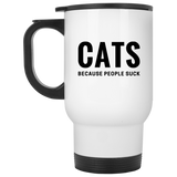 Cats Because People Suck Mugs - Apparel - Rebel Style Shop