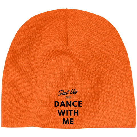 "Custom Beanie - ""Shut Up And Dance With Me"""