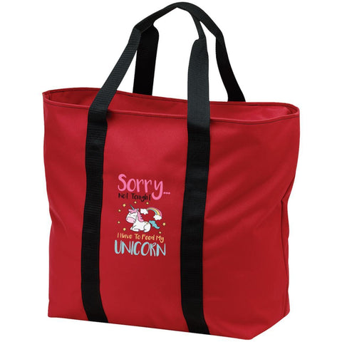 "Sarcastic Bags - ""Sorry... Not Tonight. I Have To Feed My Unicorn"""