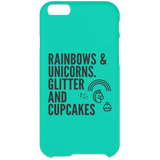 Rainbows And Unicorns, Glitters And Cupcakes Phone Cases - Apparel - Rebel Style Shop