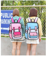 Harajuku 2D Cartoon Backpack