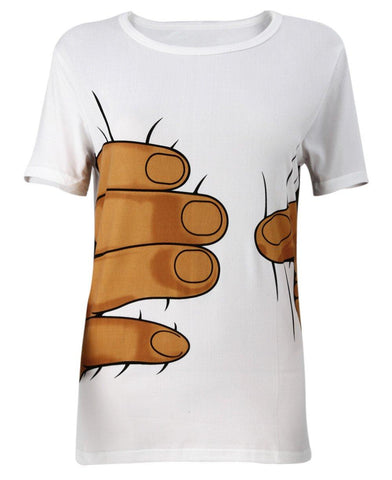 Funny Big Hand Squeeze T-Shirt - T-Shirt - Rebel Style Shop