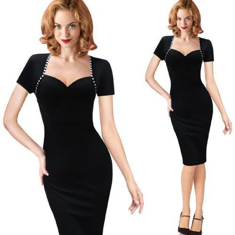 Sexy Secretary Retro Dress - Rebel Style Shop - 1