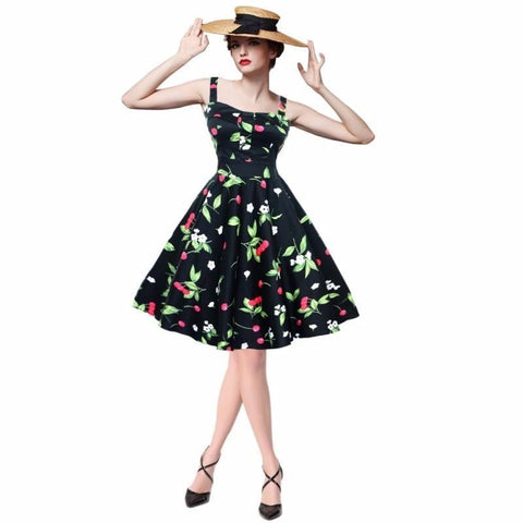 Ball Gown Skirt Rockabilly Style Dress - Rebel Style Shop - 1