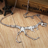 Unique Skeleton Dinosaur Necklace - necklace - Rebel Style Shop