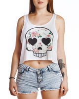 Boho Skull Cropped Top - Cropped Top - Rebel Style Shop