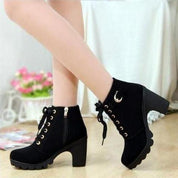 Lace Up Ankle Boots - Rebel Style Shop - 1