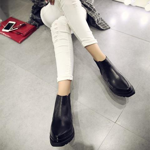 Leather Ankle Boots - Rebel Style Shop - 1