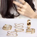 Gold Boho Rings (6 Piece Set) - Rebel Style Shop - 4