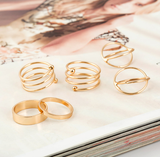Gold Boho Rings (6 Piece Set) - Rebel Style Shop - 3
