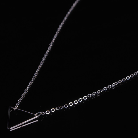 Gold & Silver Triangle Necklace - Rebel Style Shop - 1