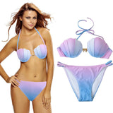 Mermaid Gradient Bikini - Swimwear - Rebel Style Shop