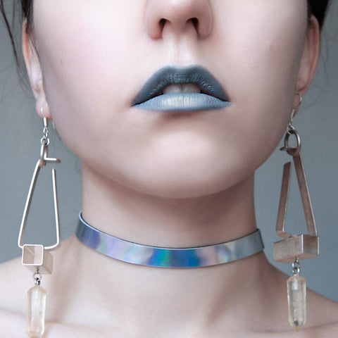Holographic Choker Necklace for Women - Choker - Rebel Style Shop