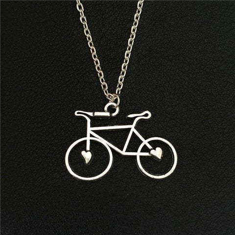 Bicycle With Hearts Necklace - Rebel Style Shop - 1