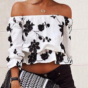 Boho Floral Off-shoulder Top - Rebel Style Shop - 1
