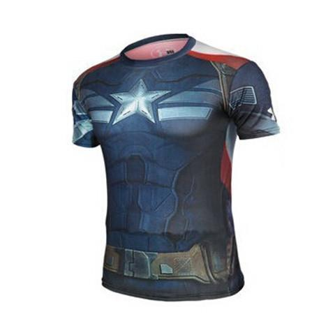 Captain America Compression Shirt - Rebel Style Shop - 1