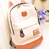 Cat Ears Canvas Backpack - Rebel Style Shop - 1