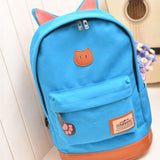 Cat Ears Canvas Backpack - Rebel Style Shop - 16