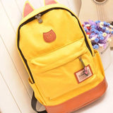 Cat Ears Canvas Backpack - Rebel Style Shop - 8