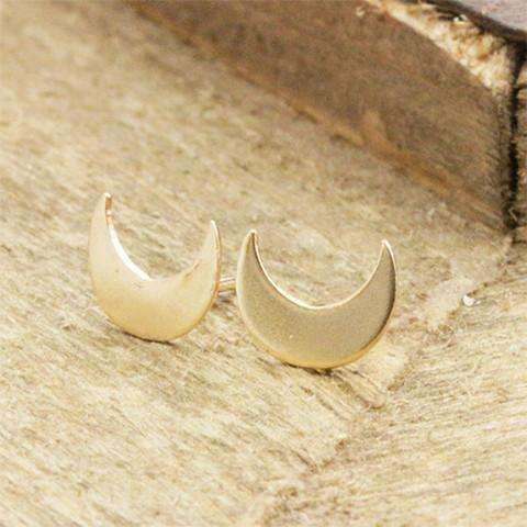 Crescent Moon Stud Earrings - Earrings - Rebel Style Shop