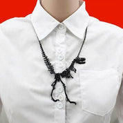 Unique Skeleton Dinosaur Necklace - Rebel Style Shop - 1