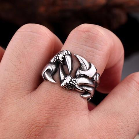 Dragon Claw Biker Ring - Ring - Rebel Style Shop