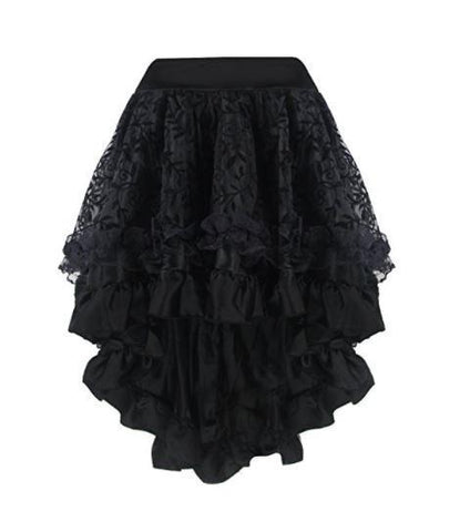 Lace Ruffled Steampunk Skirt