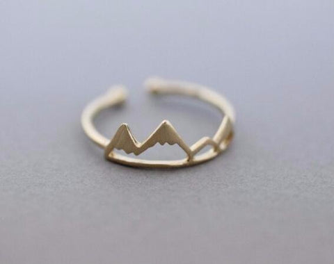 Gold, Silver and Rose Colored Mountain Rings