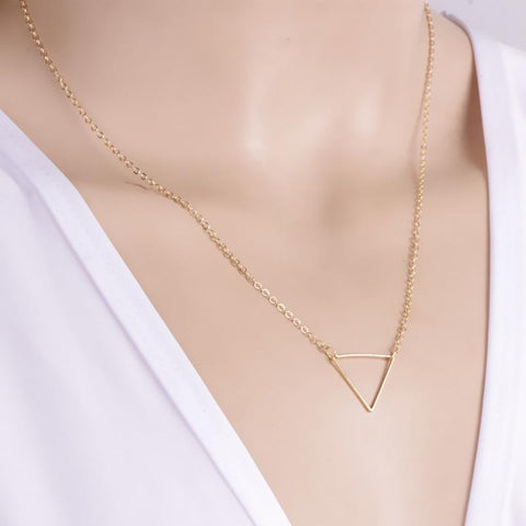 Gold & Silver Triangle Necklace - Rebel Style Shop - 3