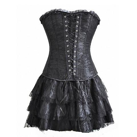 Gothic Steampunk Dress (3-pc Set) - Rebel Style Shop - 1