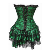 Gothic Steampunk Dress (3-pc Set) - Corset - Rebel Style Shop