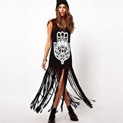 Hamsa Tassel Long Dress - Rebel Style Shop - 1