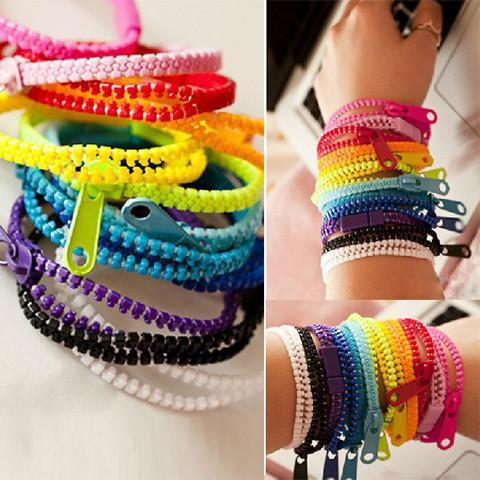 Kawaii Zipper Bracelet (Set of 10) - Rebel Style Shop - 1