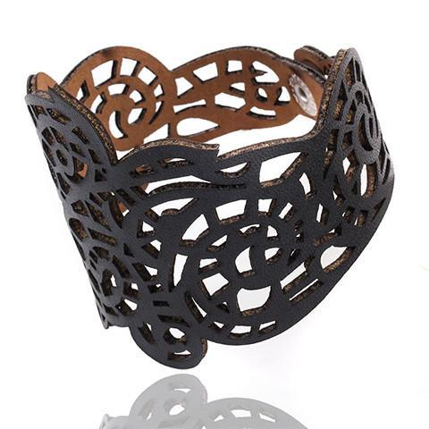 Gothic Lace Leather Bracelet - Bracelet - Rebel Style Shop