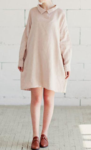 Oversized Casual Cotton Dress - Dress - Rebel Style Shop