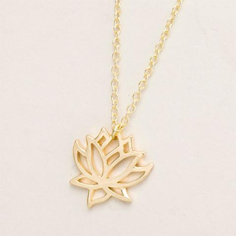Lotus Necklace - Rebel Style Shop - 1