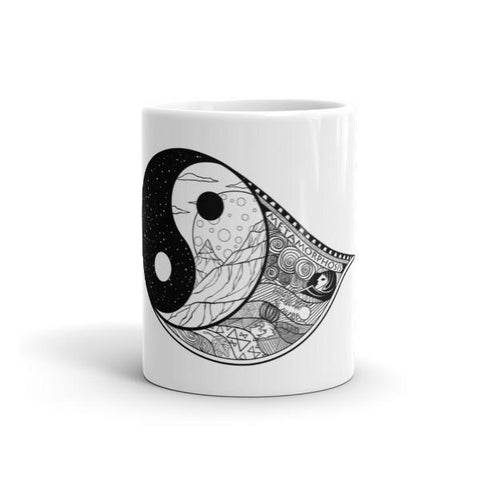 Yin-Tang Goth & Tattoo Inspired Mug - Rebel Style Shop - 2
