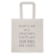 Hearts Are Wild Creatures Canvas Bag - Bag - Rebel Style Shop
