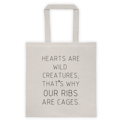 Hearts Are Wild Creatures Canvas Bag - Rebel Style Shop